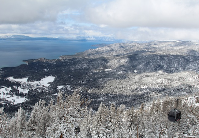 The view of Lake Tahoe from the Heavenly Observation Deck