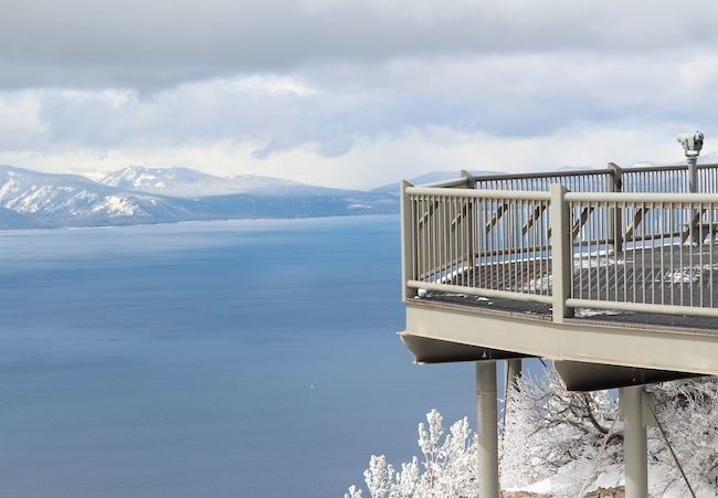 The Heavenly Mountain Observation Deck in Lake Tahoe