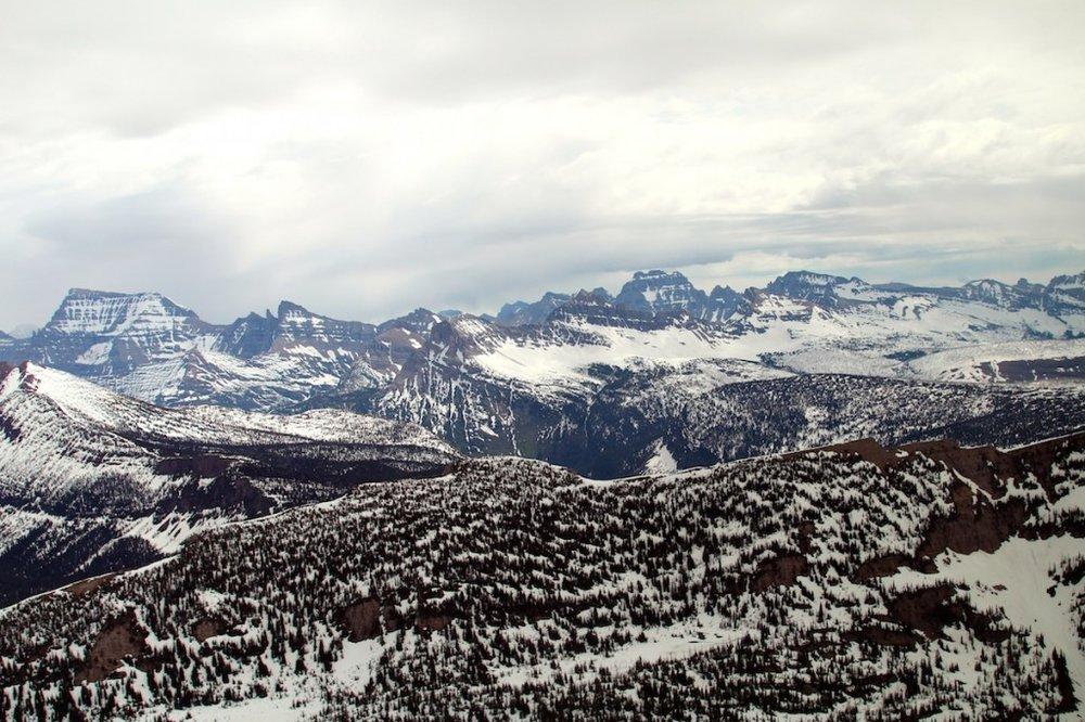 Aerial of Glacier National Park