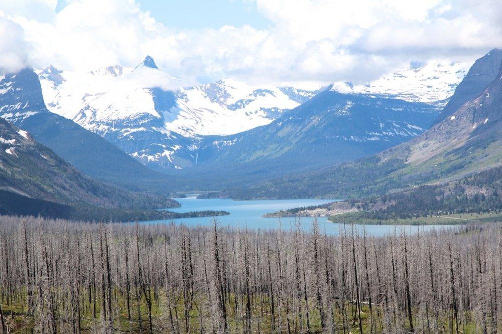 Glacier National Park overlook