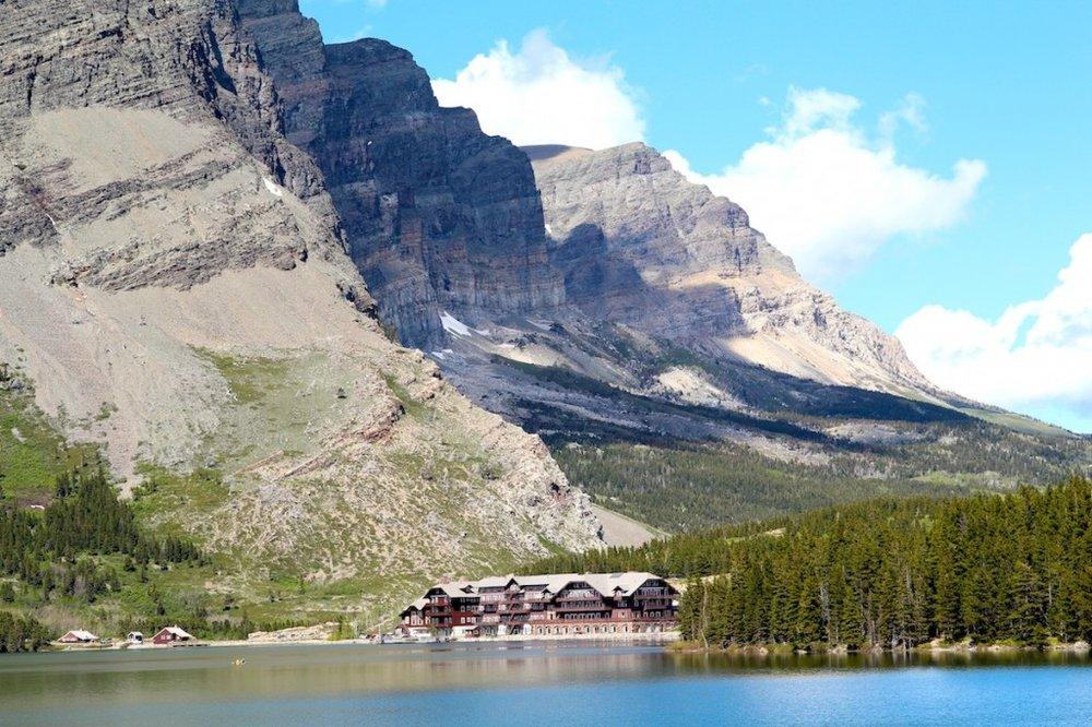 Many Glacier Lodge in Glacier National Park
