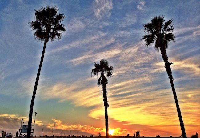 Sunset at Venice Beach, mere blocks down from Abbot Kinney