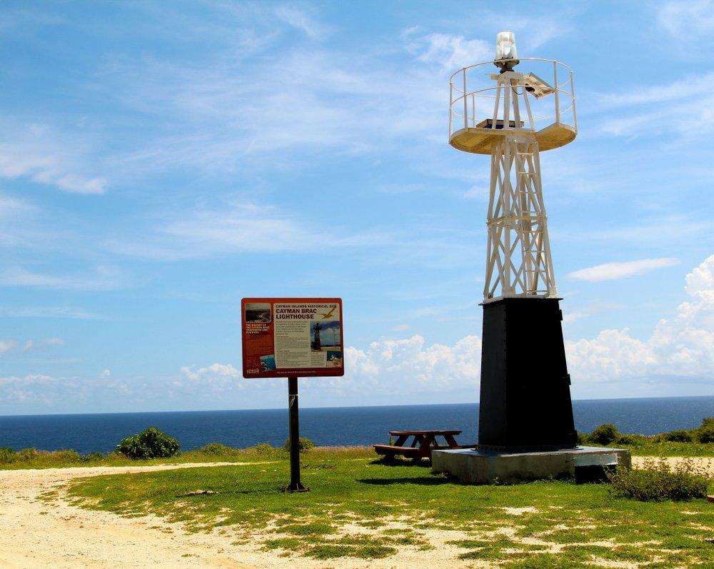 Cayman Brac Lighthouse atop the island's bluffs