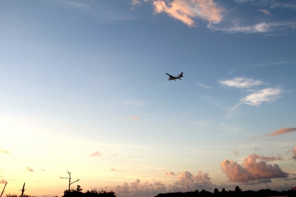 Small planes flying in and out of Cayman Brac