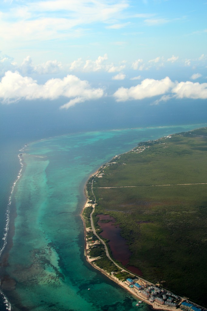 Aerial of Grand Cayman