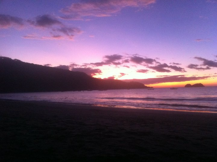Sunset at Hermosa Beach in Costa Rica
