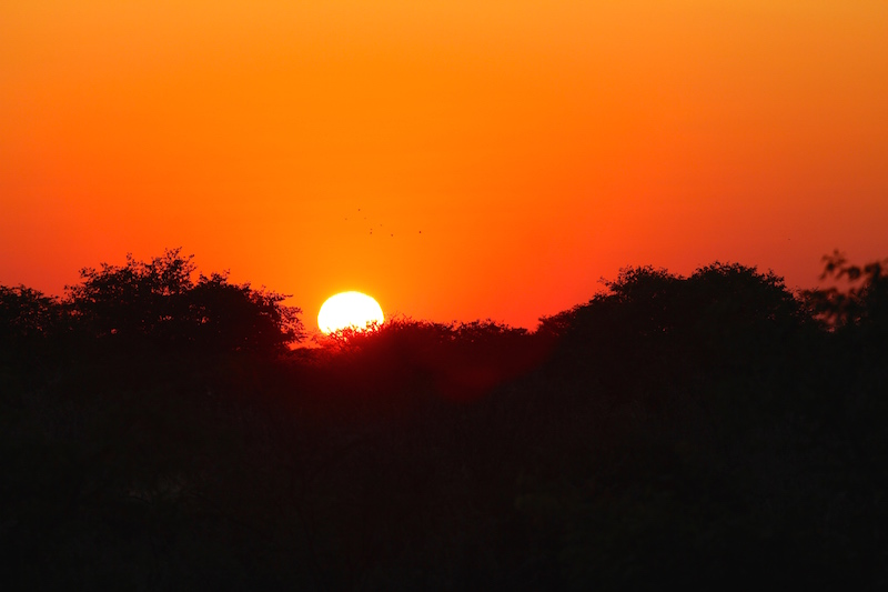 Sunset over Etosha National Park