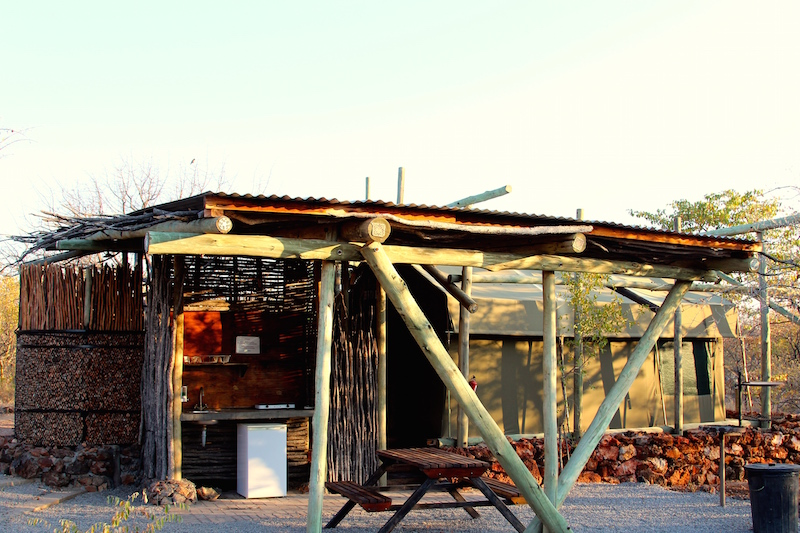 Tented camp in Namibia at Etosha National Park