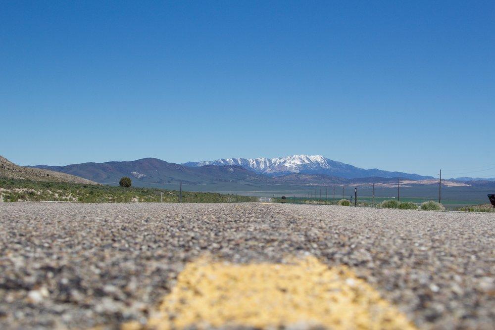 Loneliest Road on Highway 50 in Nevada