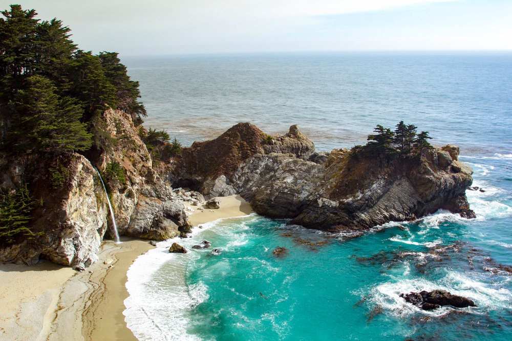 Big Sur McWay Falls in summer