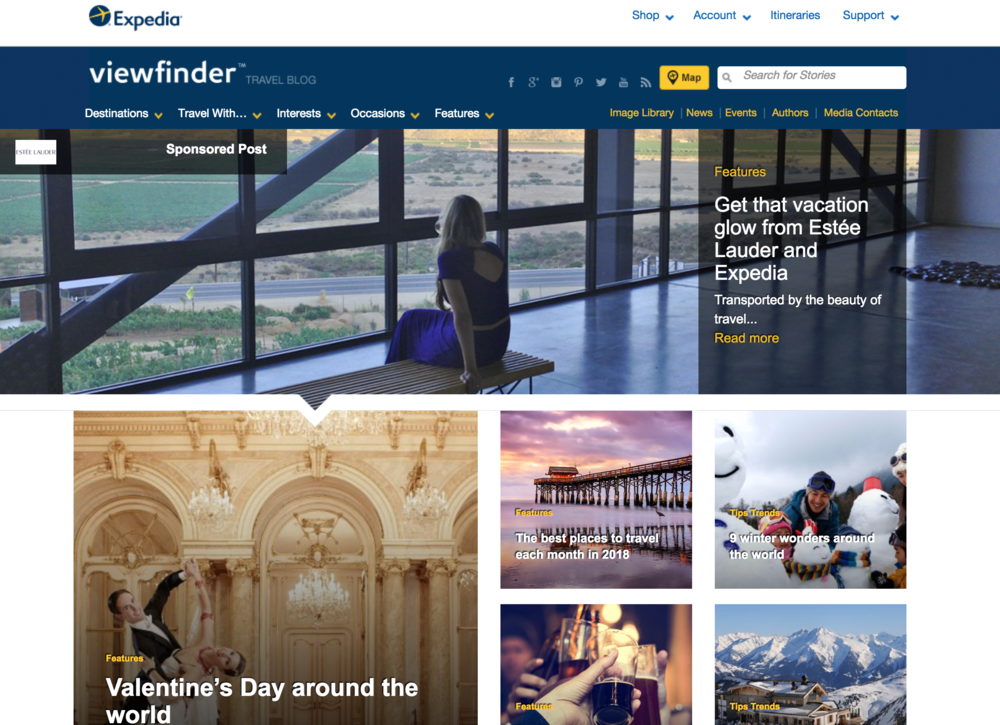 Expedia (Ambassador & Editor-in-Chief)