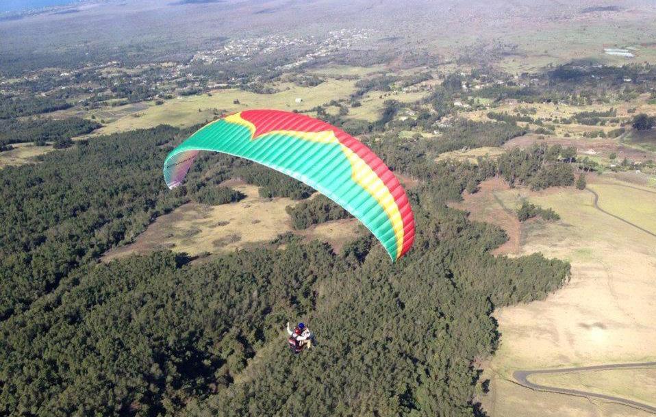 Item num. 1 on the list: Paragliding over the Hawaiian island of Maui