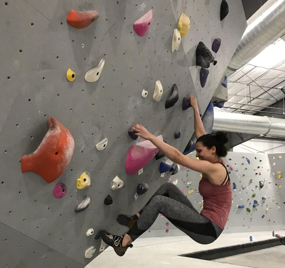 WTG's resident artist, and climber, Hannah.