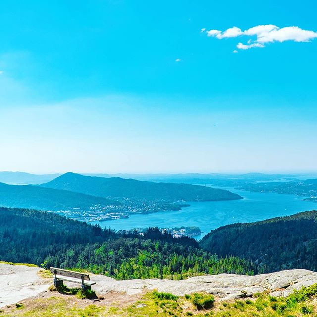 Throwback...to just one week ago, my hiking view atop Bergen, Norway. #tbt #norway🇳🇴