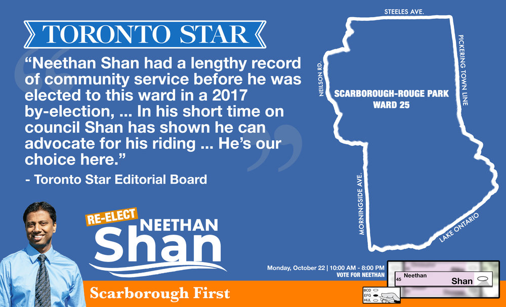 The Toronto Star endorses Neethan Shan