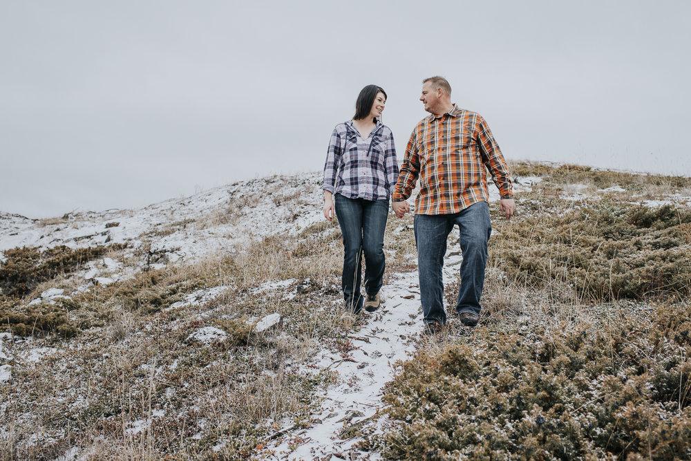 Yellowknife engagement photo