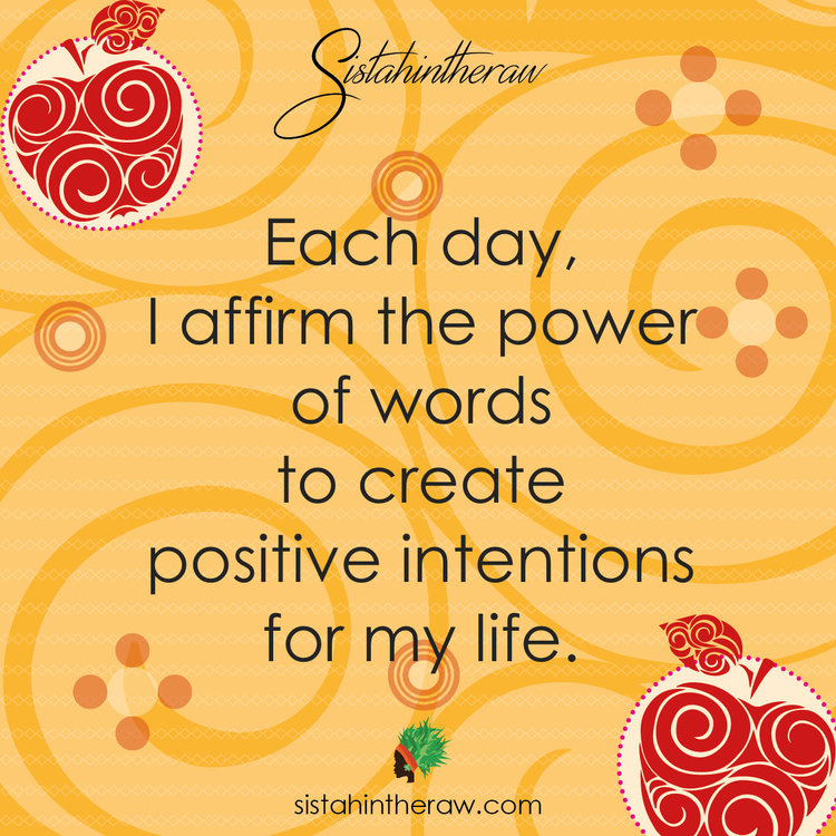 Create positive vibes how to use affirmations sisterintheraw sitr affirmation card yellow5 thecheapjerseys Gallery
