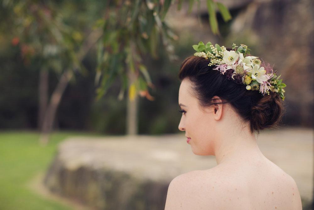 Hair Flowers  Half flower crown: from $45  Full flower crown: from $95  Flower girl crown: from $50  Comb: from $45