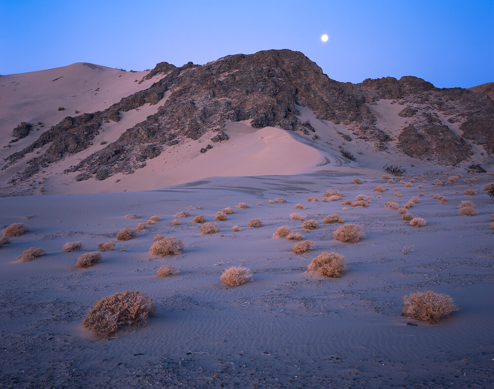 Moonset over the Dunes  | Death Valley, California