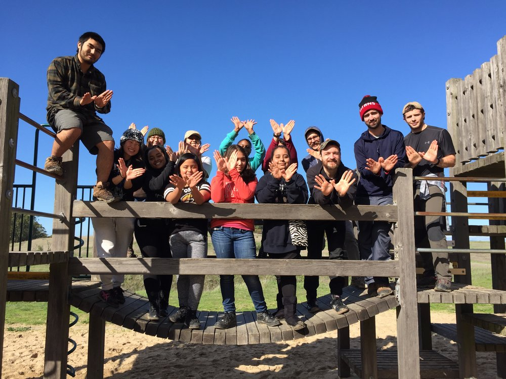 Pinole Regional Shoreline Park // Campers reflect on their year-long goals and go on a five-mile day hike
