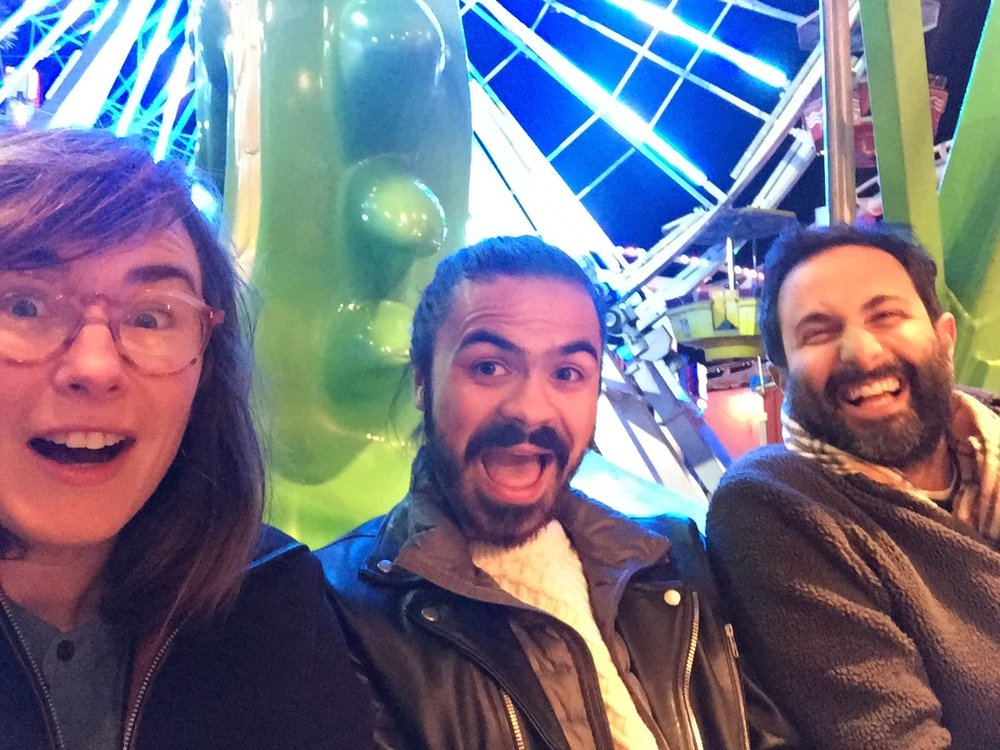 The terror of being stuck between 2 of your professors on a carnival ride!!!