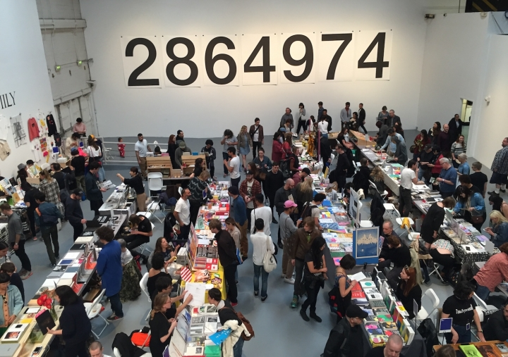 WE HIT THE PRINTED MATTER BOOK FAIR AT MOCA GEFFEN-------->Just one room of MANY