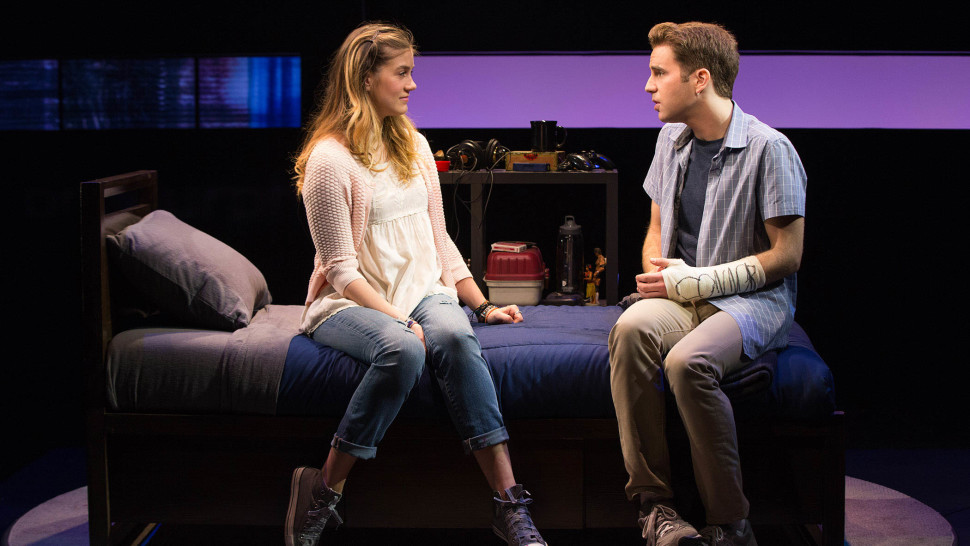 Ben Platt and Laura Dreyfuss in Dear Evan Hansen. Photo Credit Playbill.com.