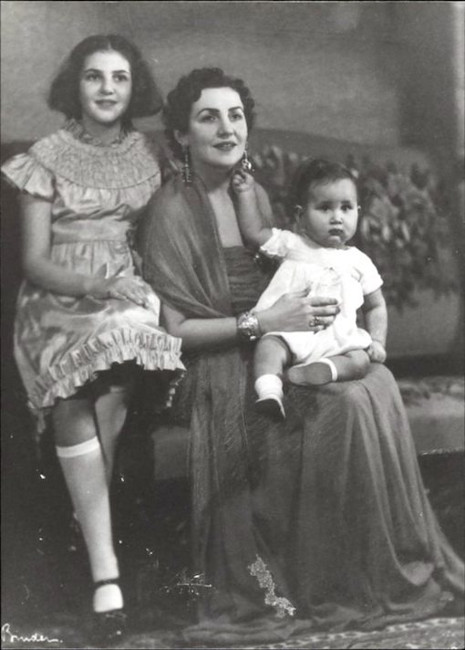 Princess Zeid with her children Princess Shirin and Prince Raad, in Berlin.