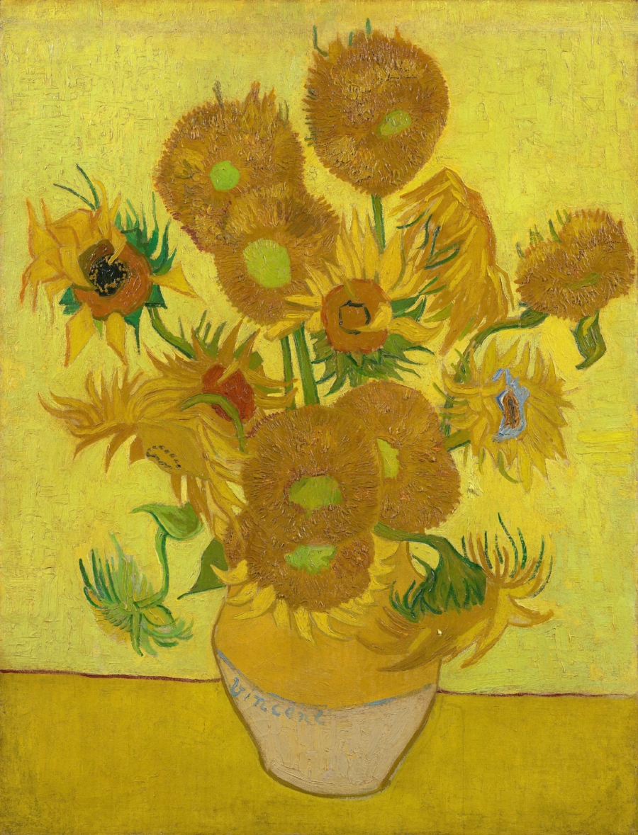 Vincent van Gogh,  Sunflowers , 1888