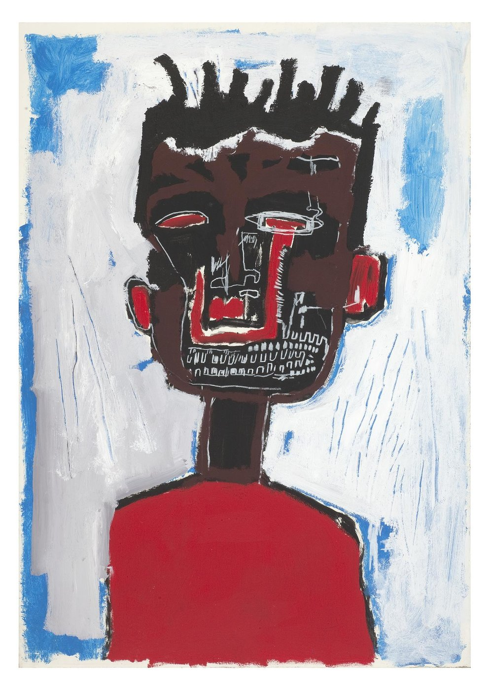 J Self Portrait (1984). Photograph: Jean-Michel Basquiat/Barbican