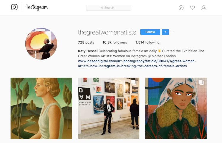 mother london great women artists instagram review