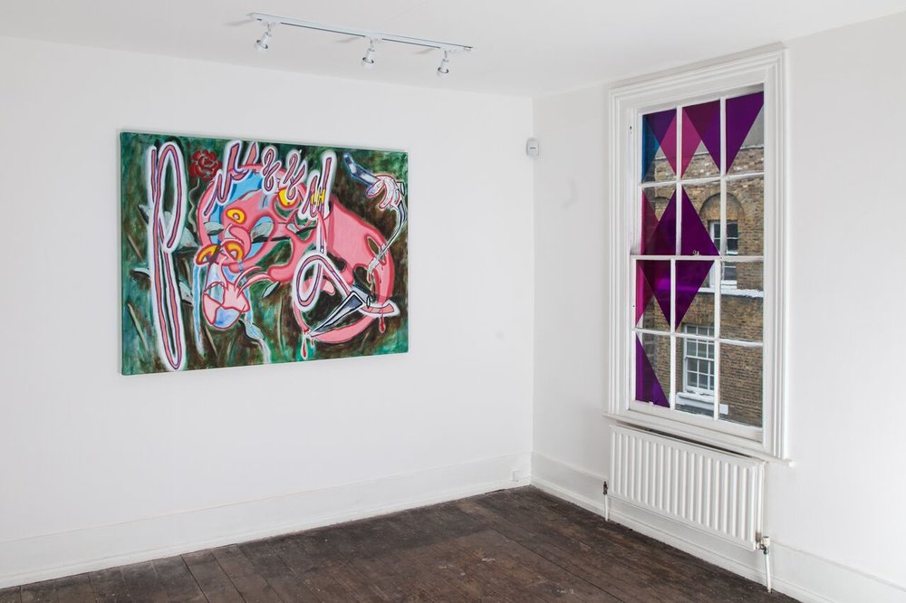 Installation shot of The Pink Panther Show 2018 at Gallery 46.