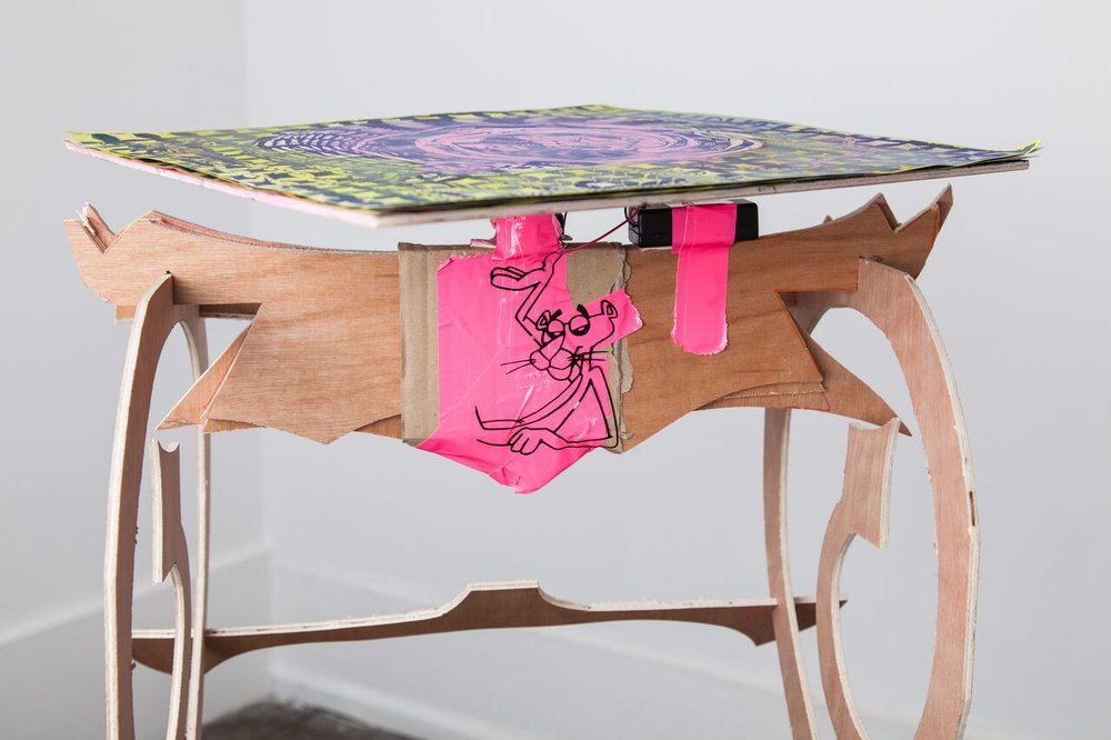 Tom Hardwick-Allan, Flatpack Birdbath, 2018, Woodcut prints