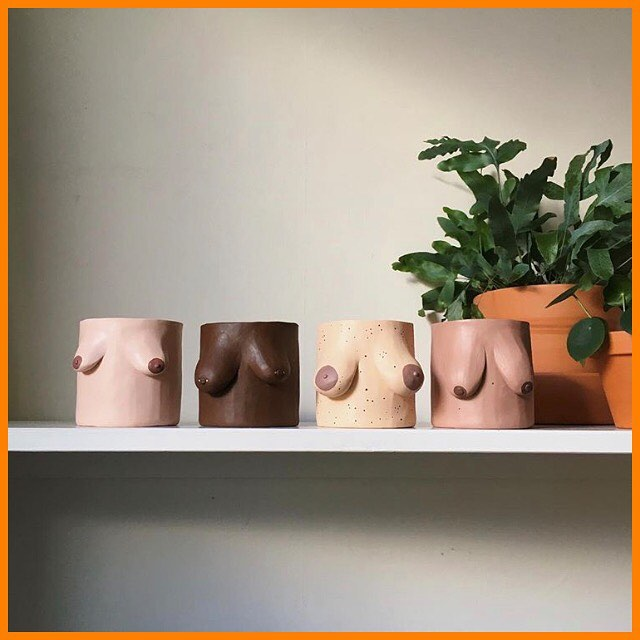 Download ep 20 of The You Do You Show to hear Anna chatting about pop culture and identity with the woman behind these fab tit pots, @potyertitsawayluv. Link in bio / find the ep where ever you get your podcasts 💥  For fans of: Drowning Pool's 'Bodies', Naked Attraction and the inability to remain focused on the question at hand because the talk is too good.