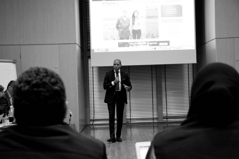Derrick Fountain hosting a workshop in Warsaw, Poland with media executives representing over 10 countries.