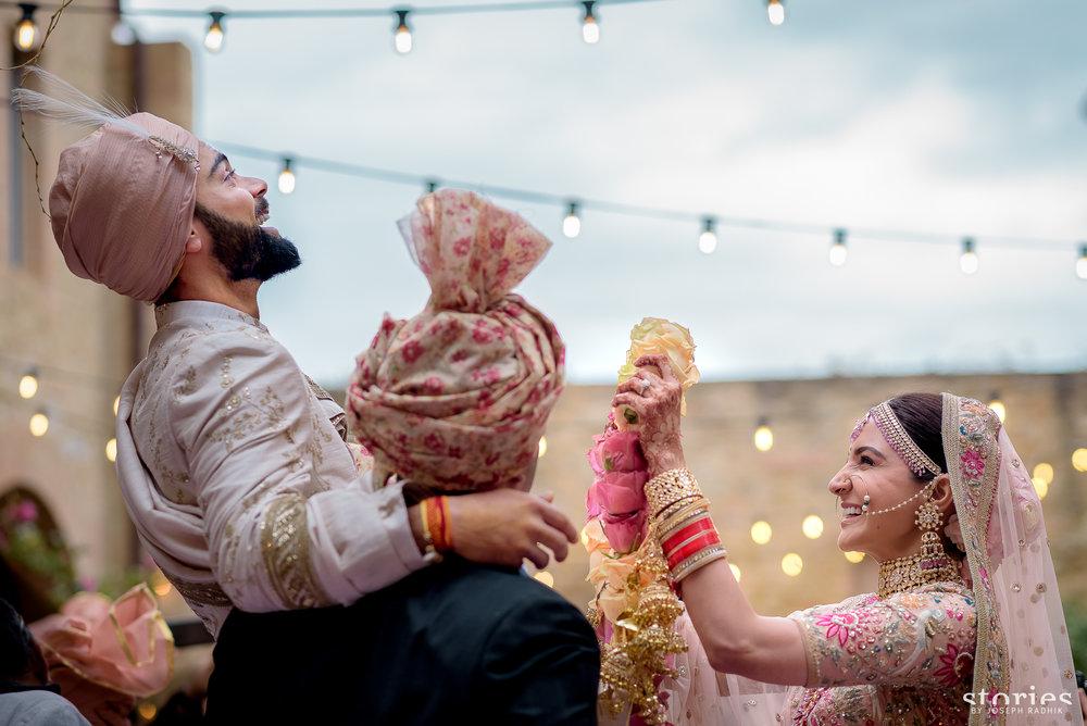 This iconic image at Virat Kohli and Anuskha Sharma's wedding is by Noel David