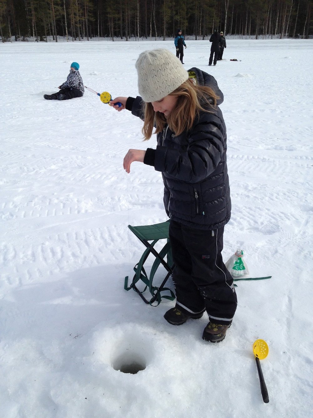 Ice-fishing kids