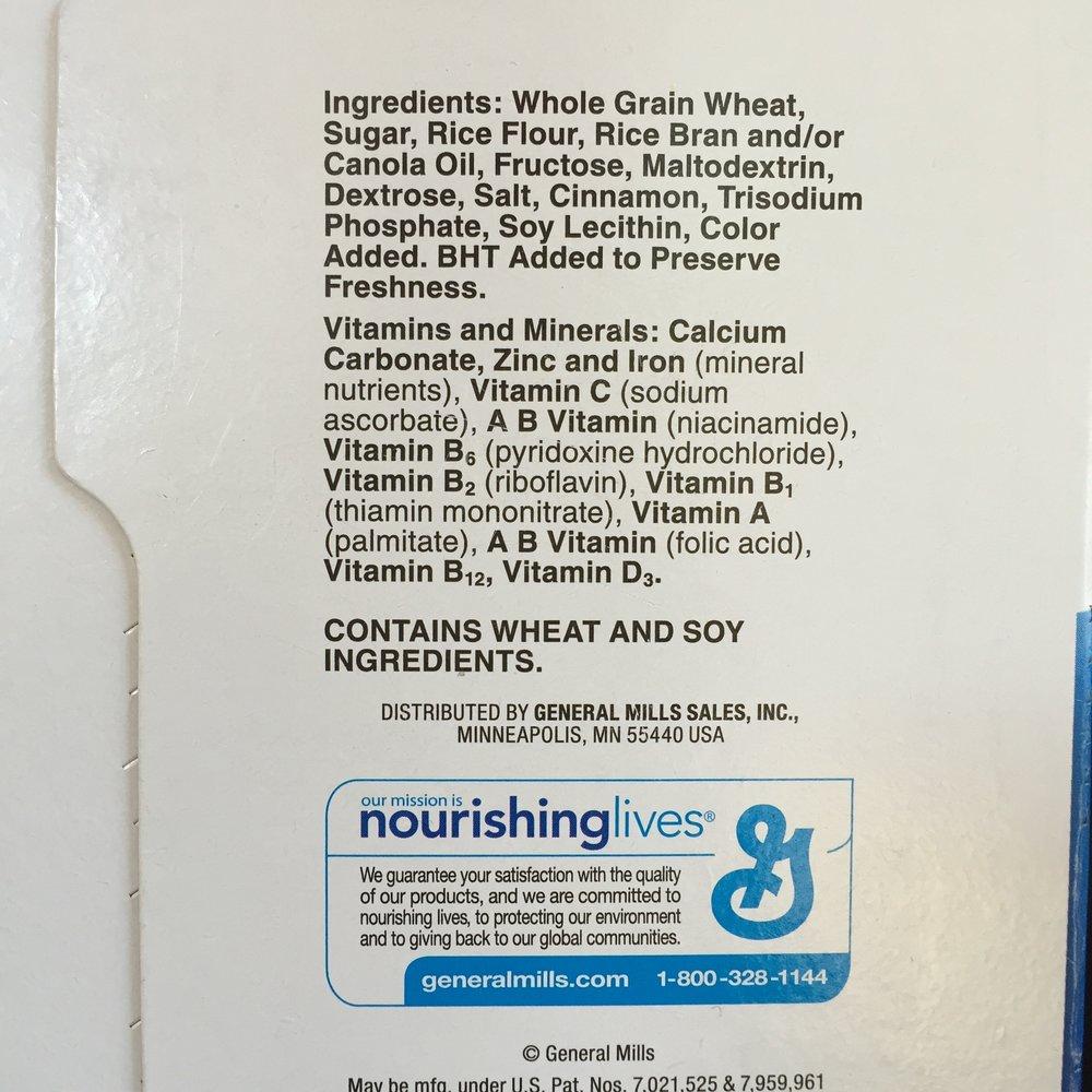 cin toast label