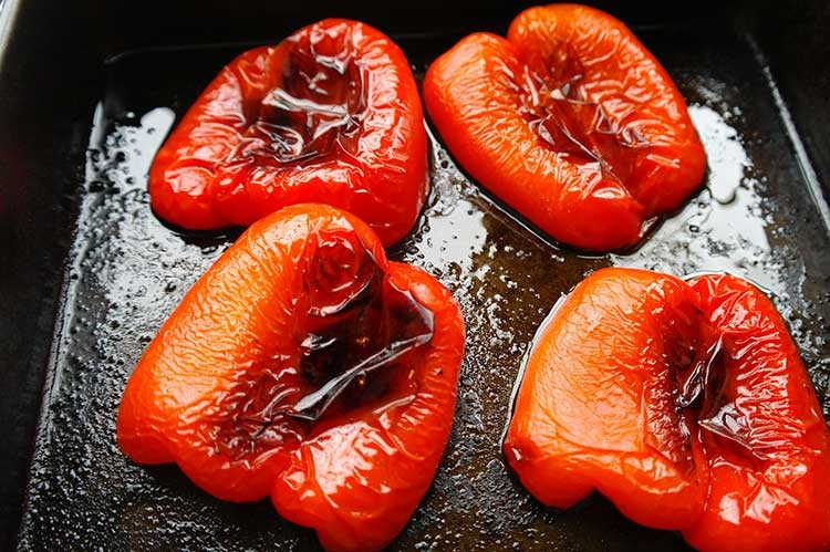 Roasted red peppers by  Bachology