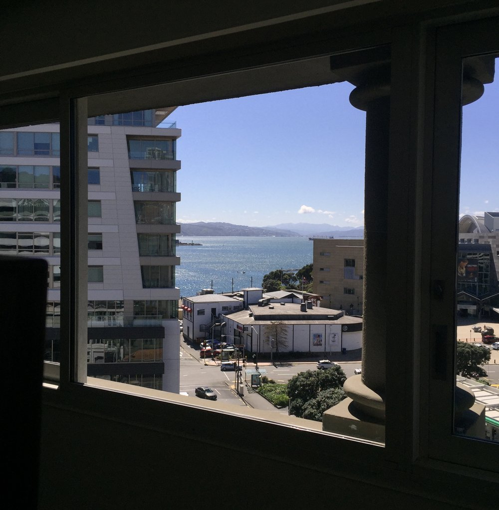View from our apartment in New Zealand