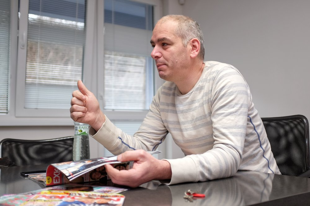 Daniel Köppl, executive manager of Empresa Media which holds and publishes numerous magazines in the Czech Republic, as well as runs the popular TV Barrandov, describes the inside of the industry, in his conference room in Prague.