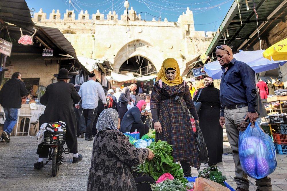 Market near Damascus Gate, Old City, Jerusalem