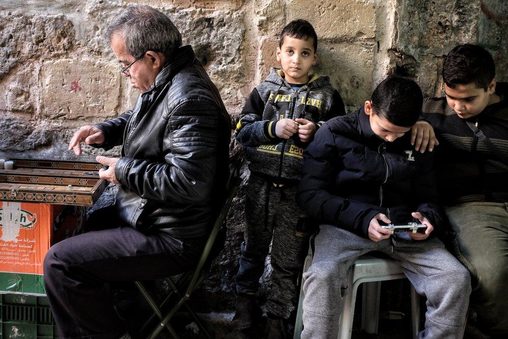 Games at the Muslim Quarter, Old City of Jerusalem