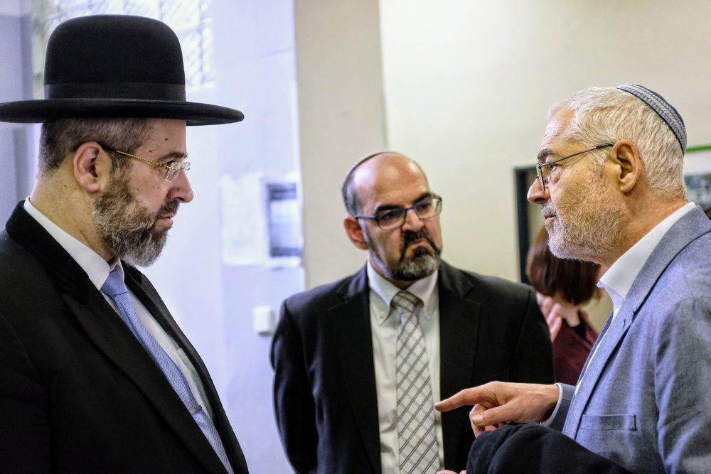 With Leo Pavlát, head of the Jewish Museum in Prague