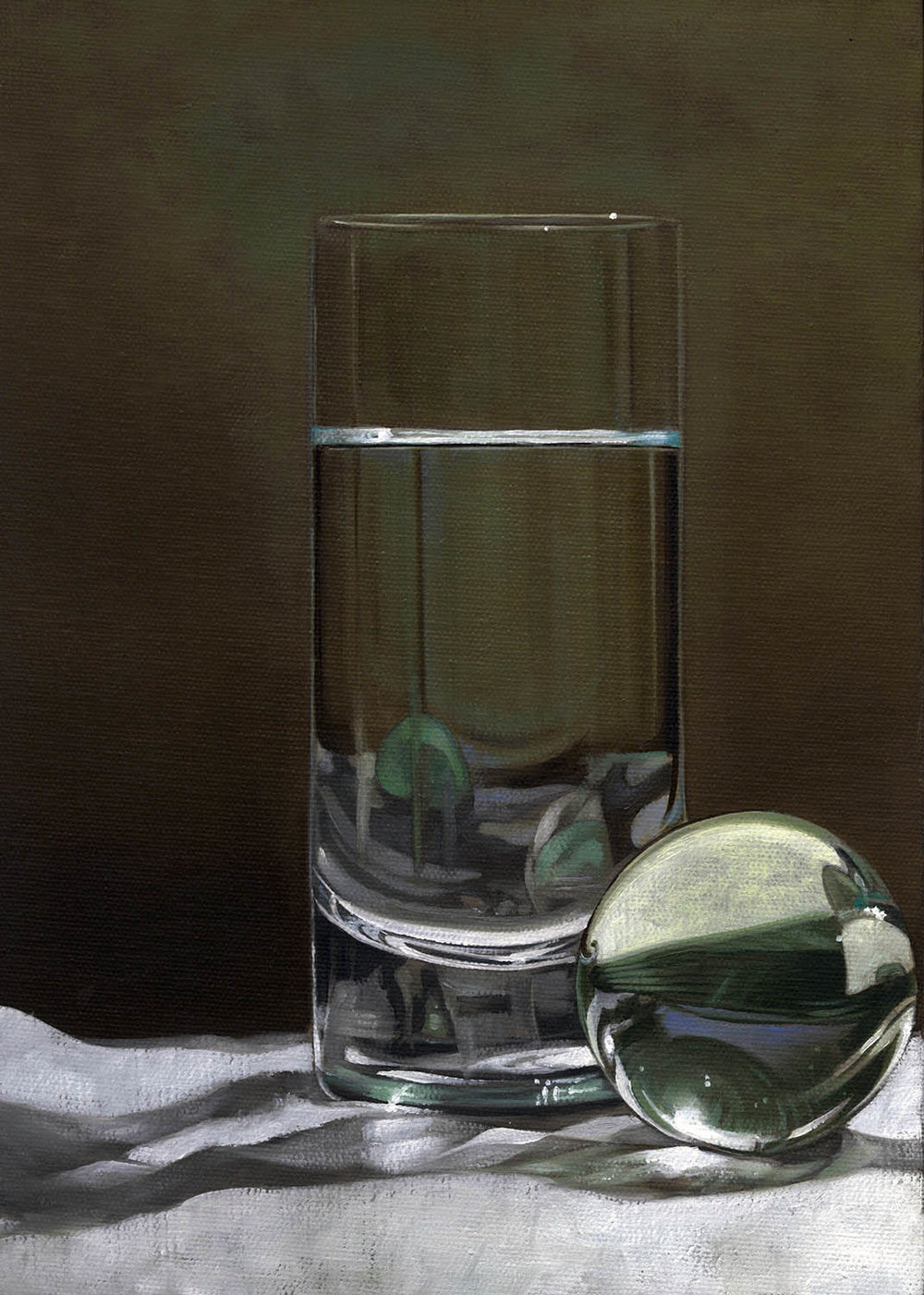 Lots of Glass  |  9 x 12  |  Oil on canvas