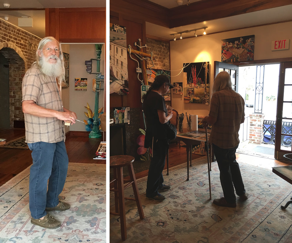 Fred Jamar: Artist in residence at the Vendue Hotel
