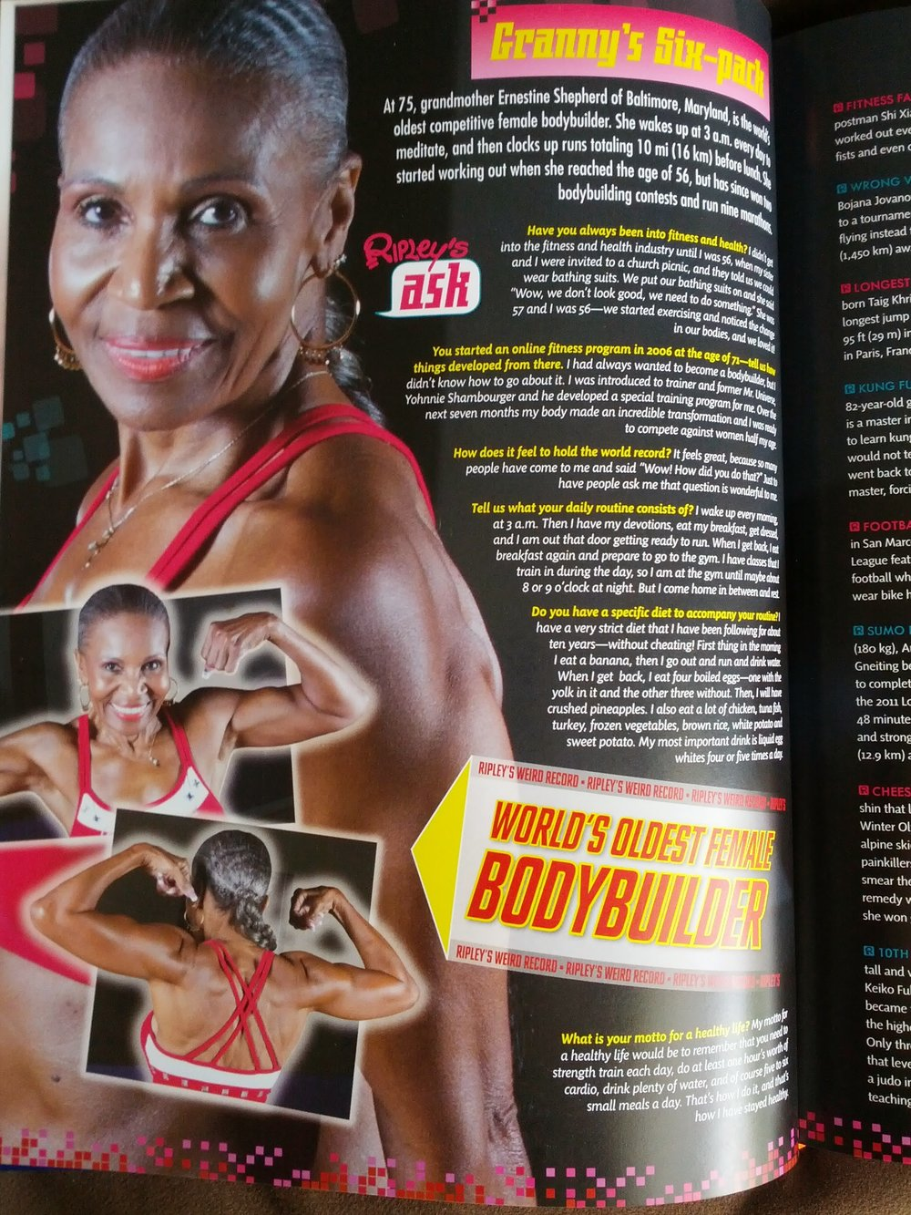 Ernestine Shepherd for Ripley's Believe It or Not |  Photography by: Ryan Shapiro