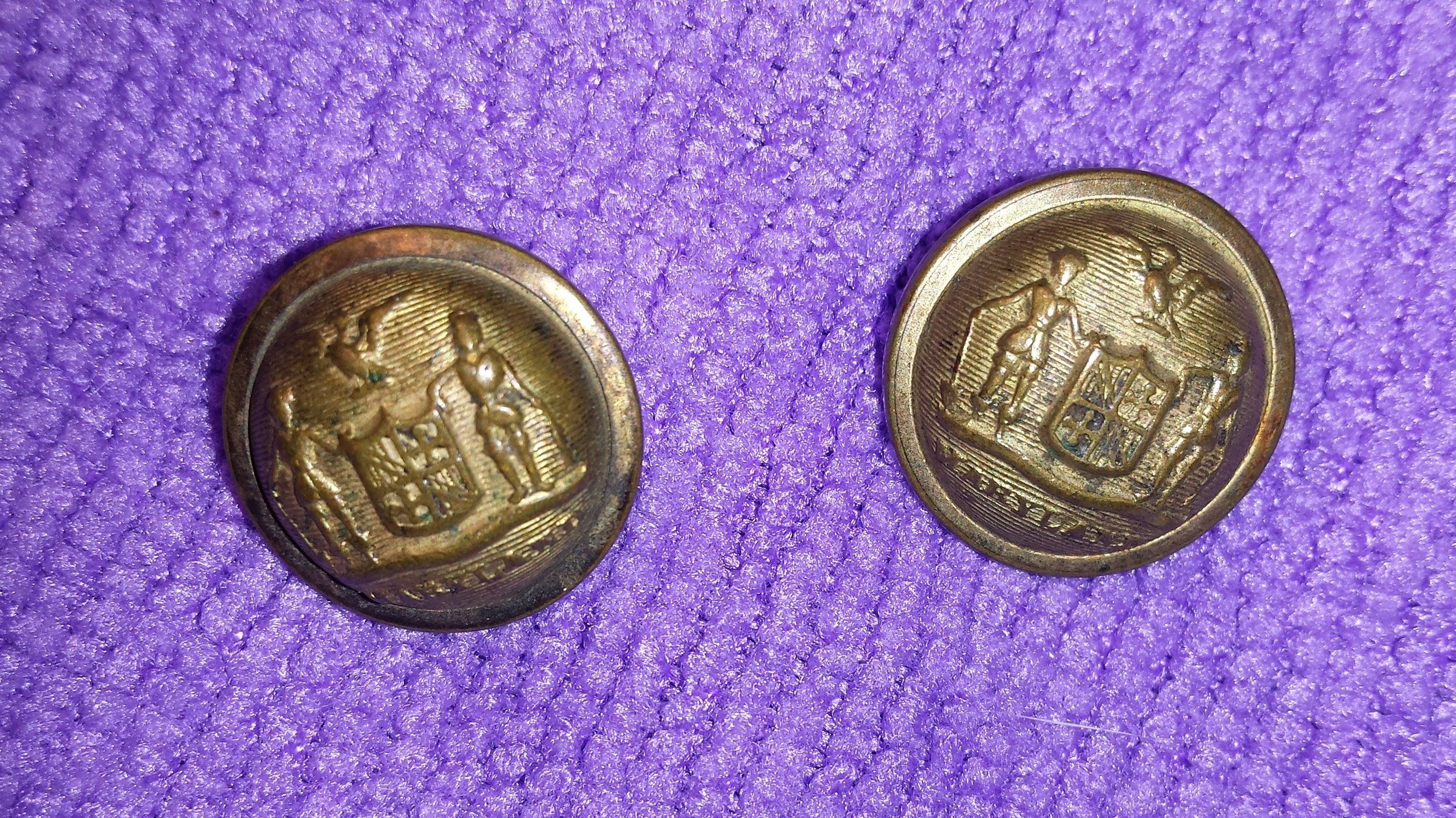 2 Maryland State Seal Civil War Buttons
