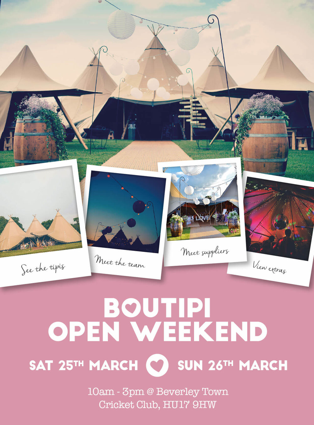 Boutipi open weekend