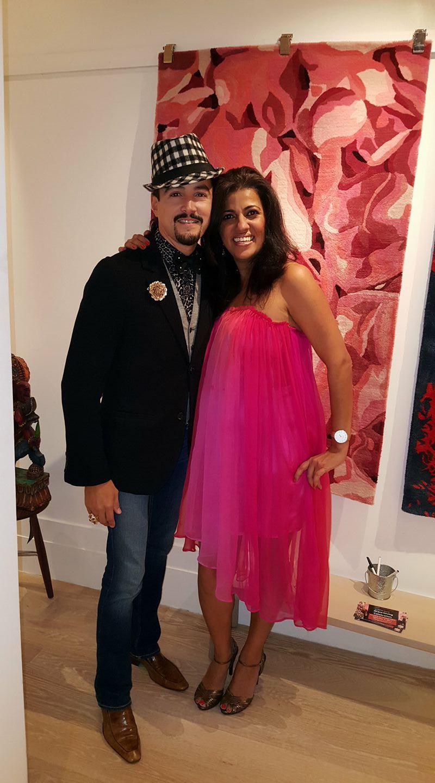 Reeta Gyamlani with David Santiago
